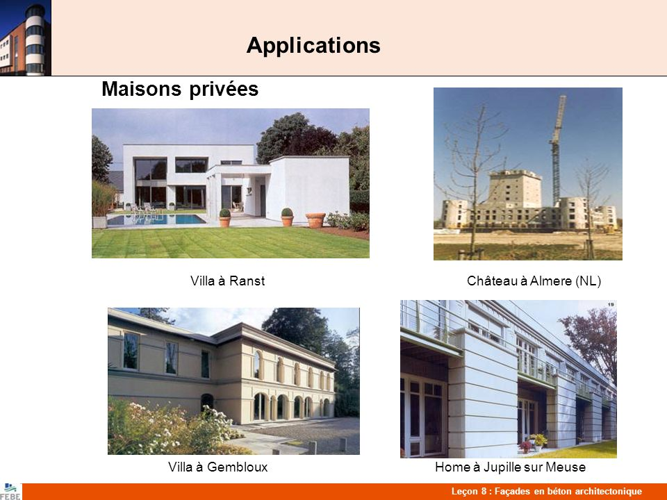Applications Maisons privées Villa à Gembloux Home à Jupille sur Meuse