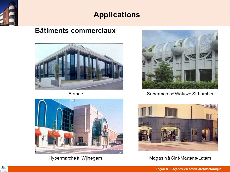 Applications Bâtiments commerciaux