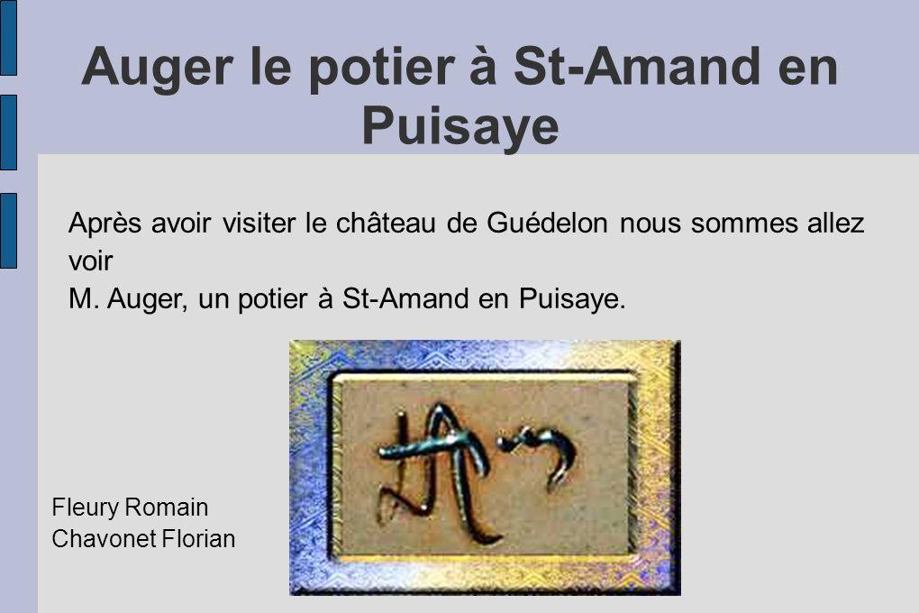 Auger le potier à St-Amand en Puisaye