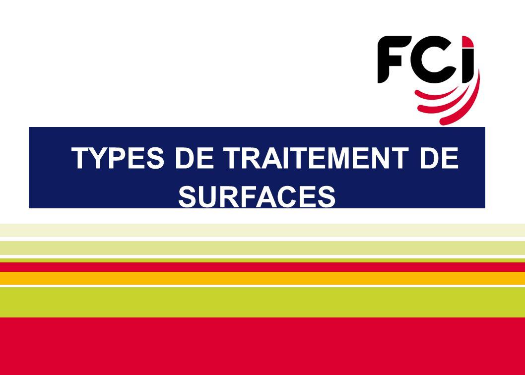 TYPES DE TRAITEMENT DE SURFACES