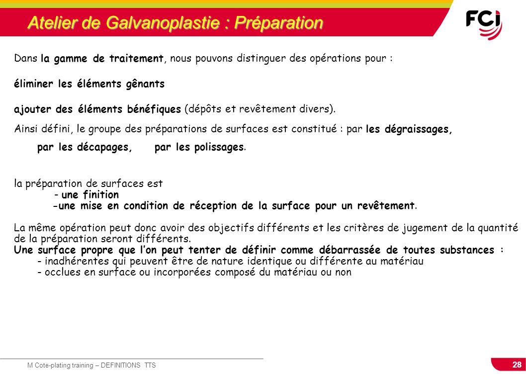 Atelier de Galvanoplastie : Préparation