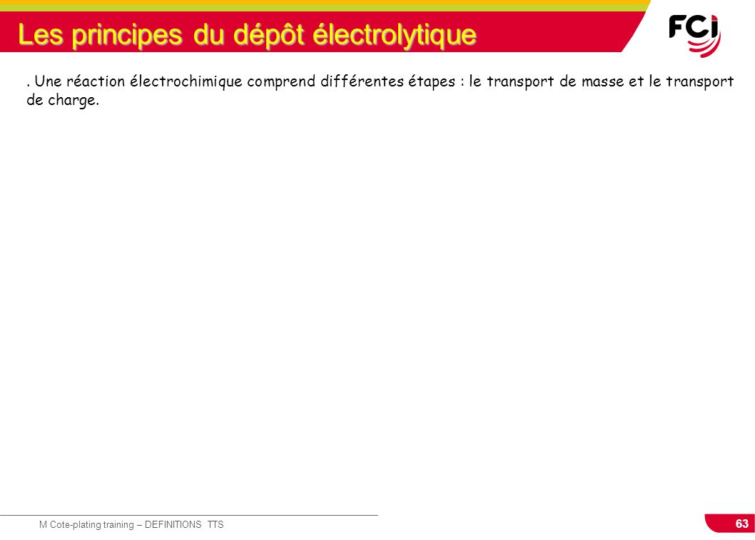 Les principes du dépôt électrolytique