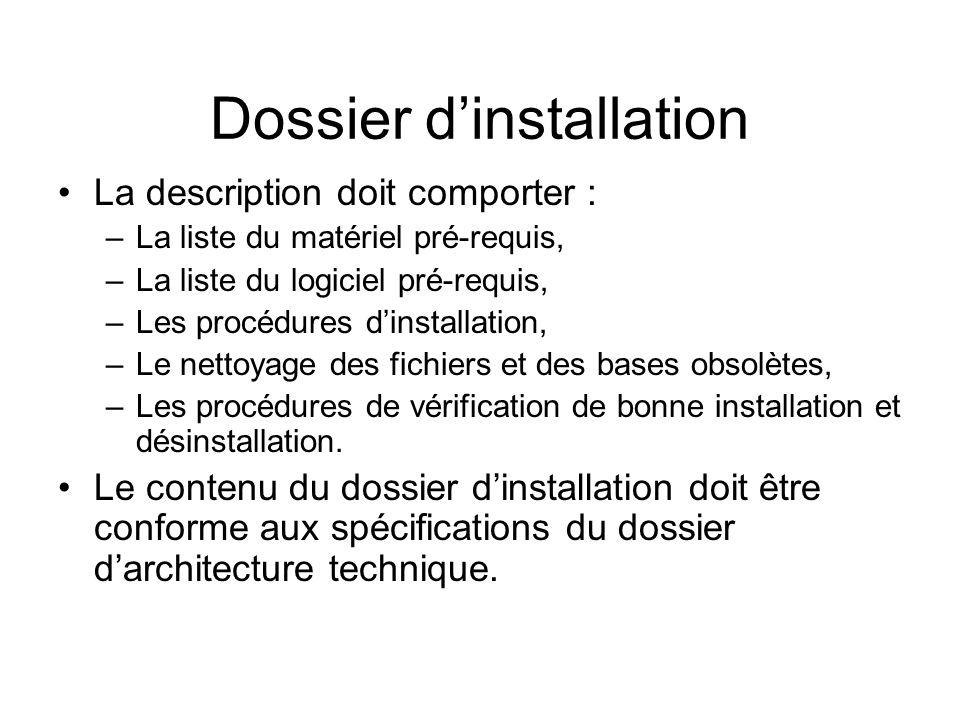 Dossier d'installation