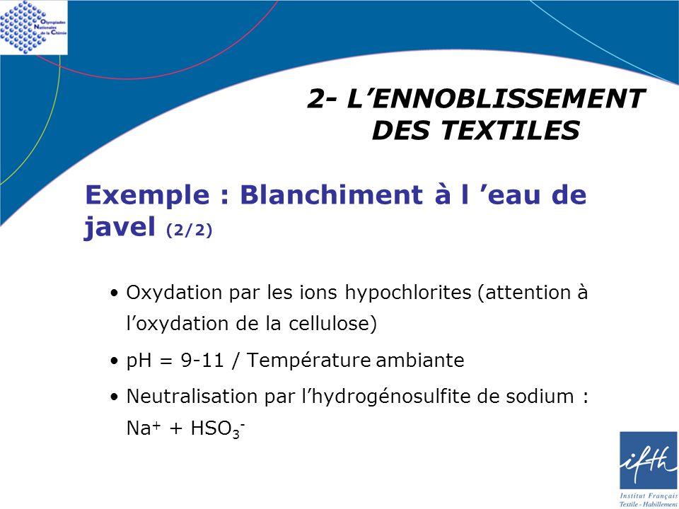 2- L'ENNOBLISSEMENT DES TEXTILES