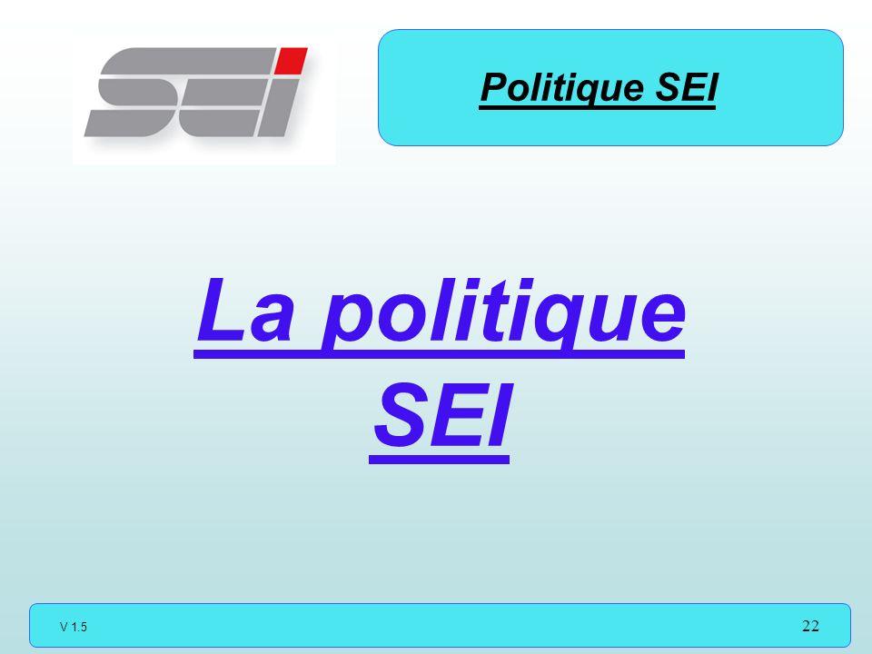Politique SEI La politique SEI