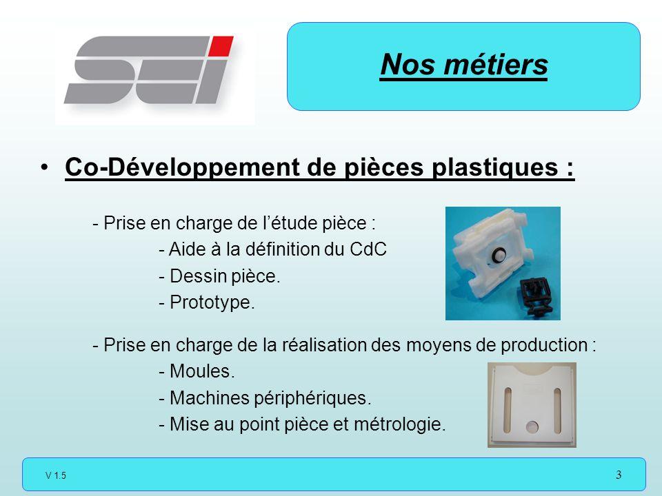 Nos métiers Co-Développement de pièces plastiques :