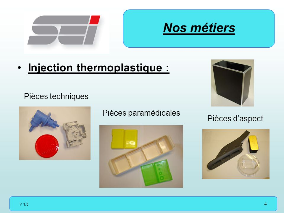 Nos métiers Injection thermoplastique : Pièces techniques