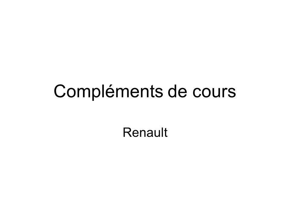 Compléments de cours Renault