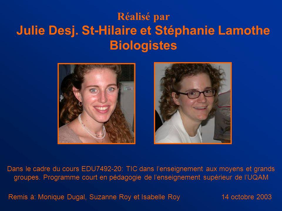 Julie Desj. St-Hilaire et Stéphanie Lamothe