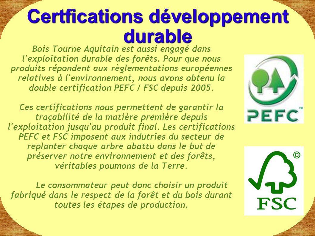 Certfications développement durable