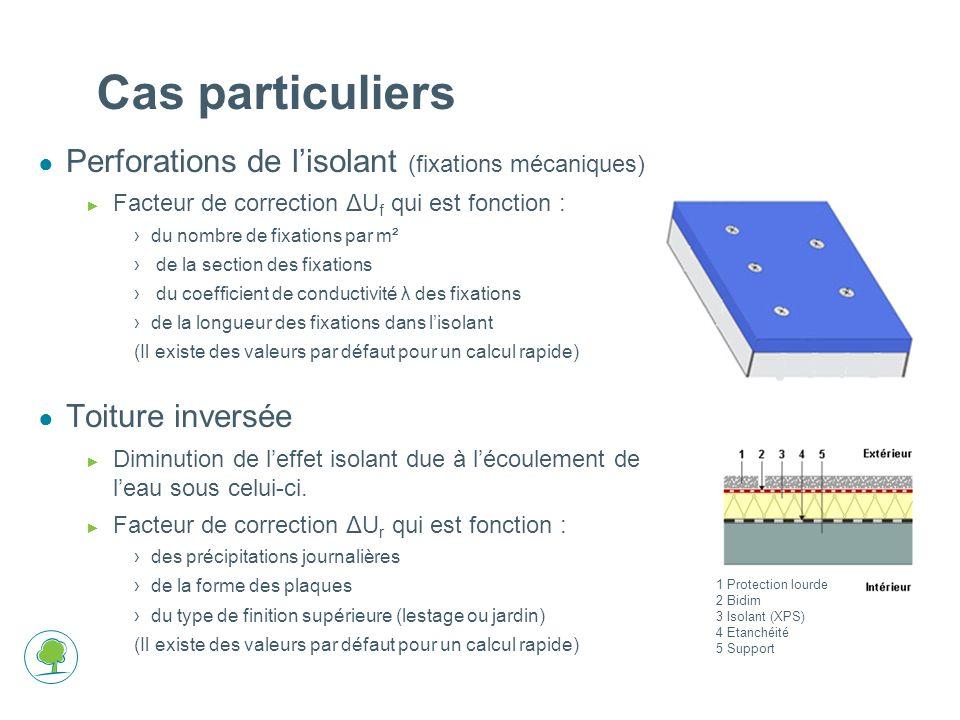 Cas particuliers Perforations de l'isolant (fixations mécaniques)