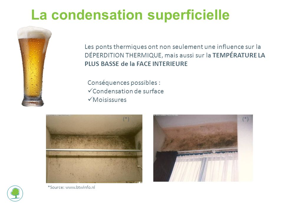 La condensation superficielle