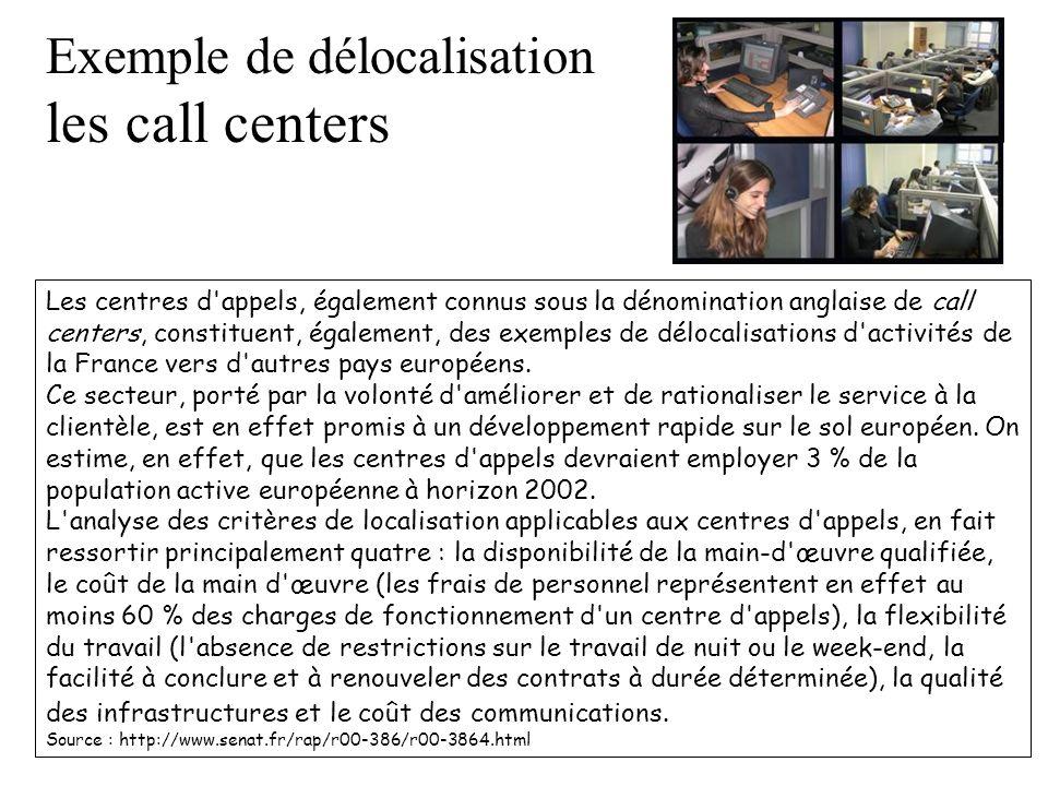 Exemple de délocalisation les call centers