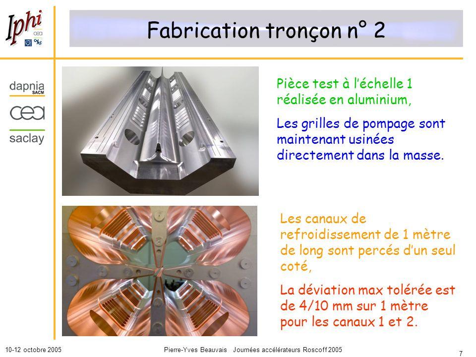 Fabrication tronçon n° 2