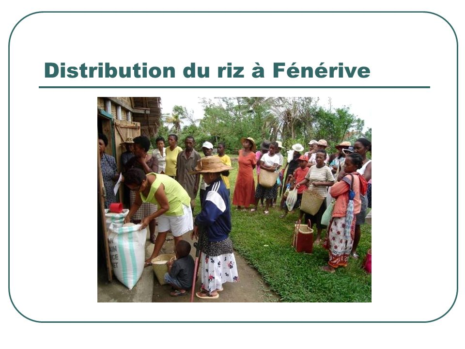 Distribution du riz à Fénérive