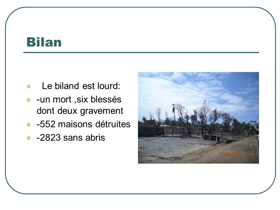 Bilan Le biland est lourd: -un mort ,six blessés dont deux gravement