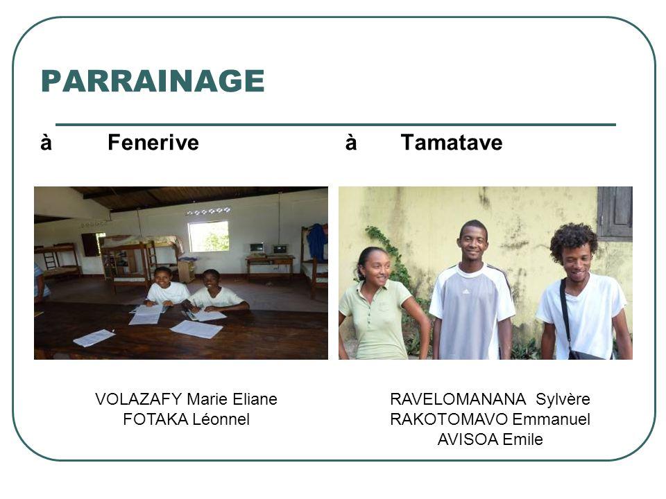 PARRAINAGE à Fenerive à Tamatave VOLAZAFY Marie Eliane FOTAKA Léonnel