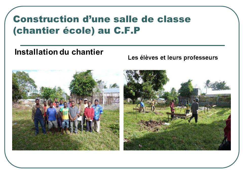 Construction d'une salle de classe (chantier école) au C.F.P