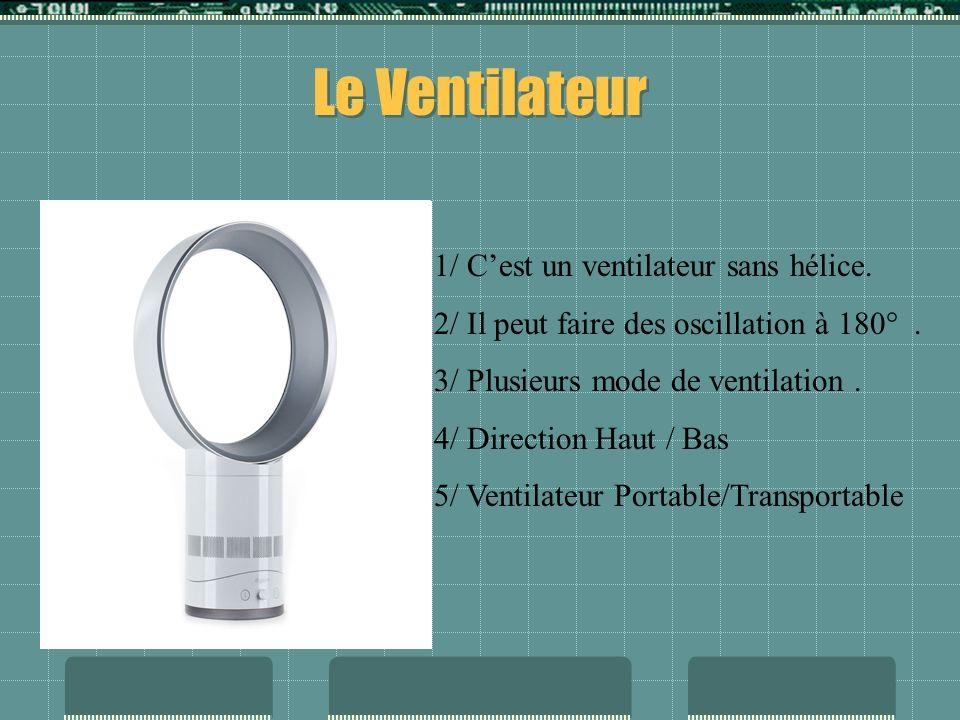 Le Ventilateur 1/ C'est un ventilateur sans hélice.