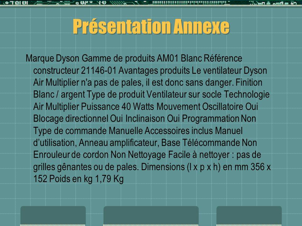 Présentation Annexe