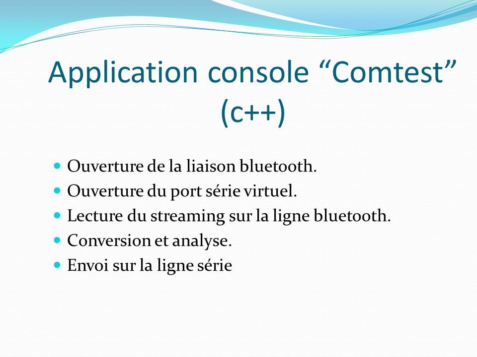 Application console Comtest (c++)