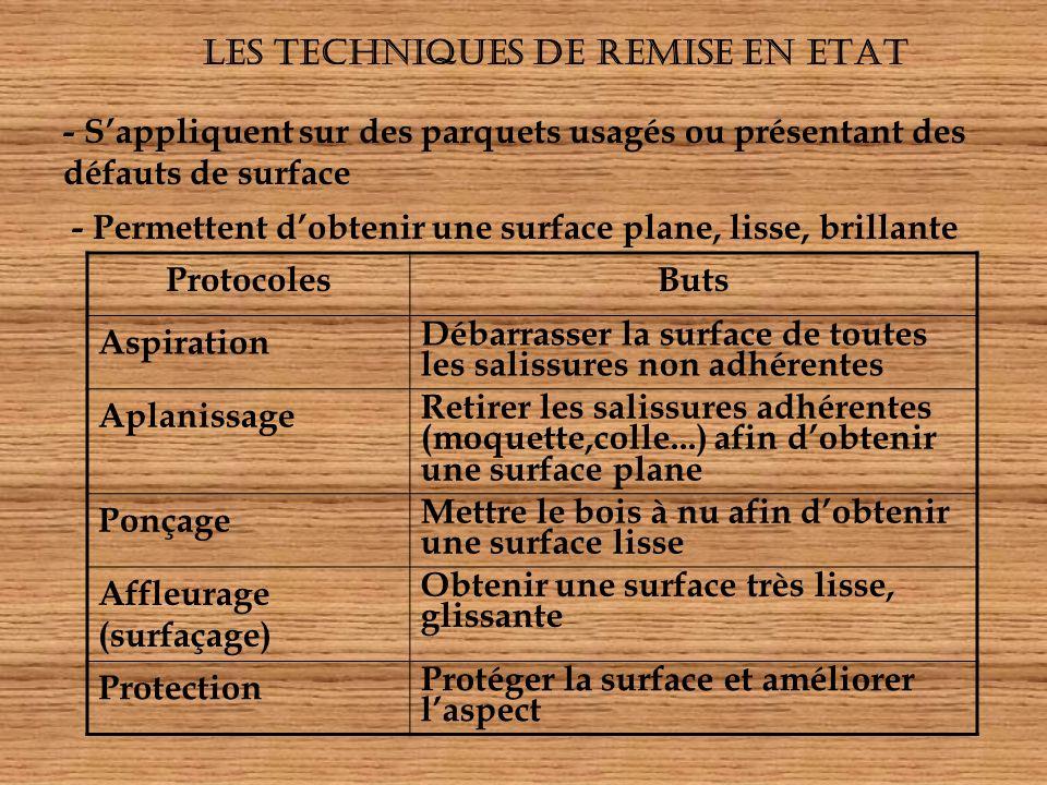 LES TECHNIQUES DE REMISE EN ETAT