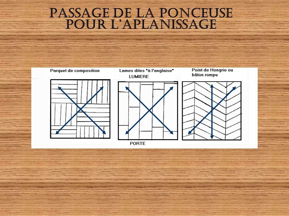 PASSAGE DE LA PONCEUSE POUR L'APLANISSAGE