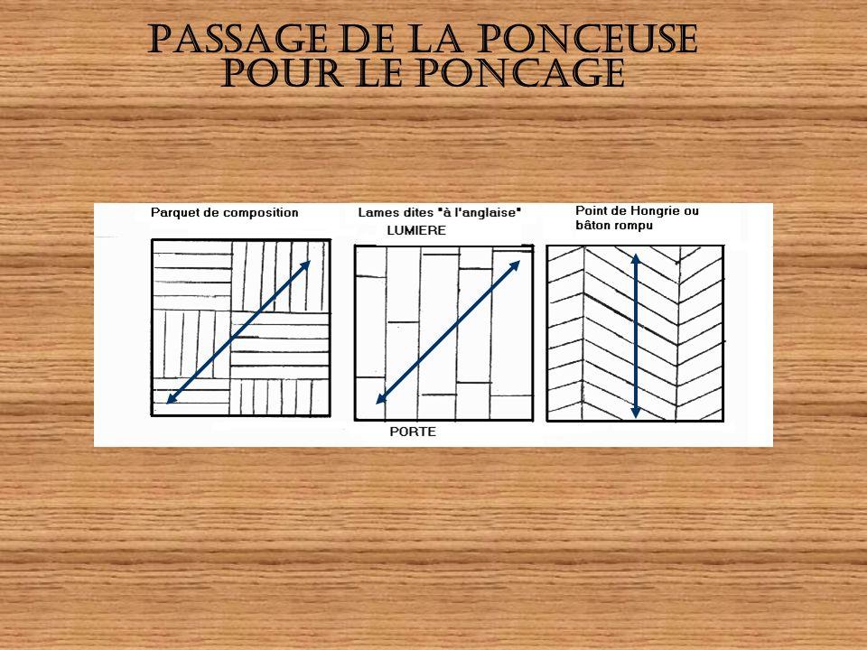 PASSAGE DE LA PONCEUSE POUR LE PONCAGE