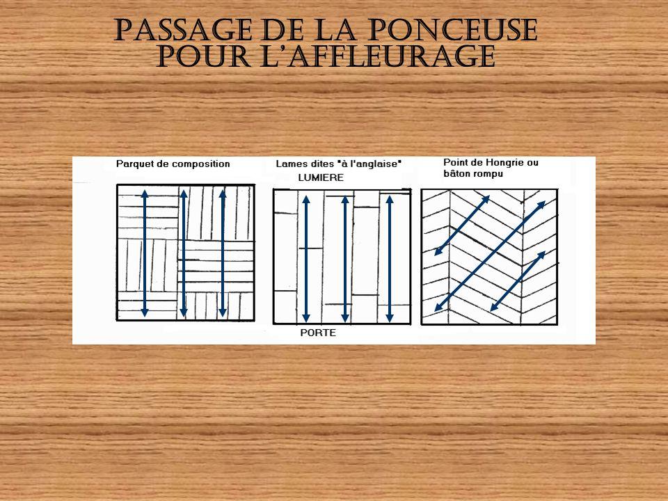PASSAGE DE LA PONCEUSE POUR L'AFFLEURAGE