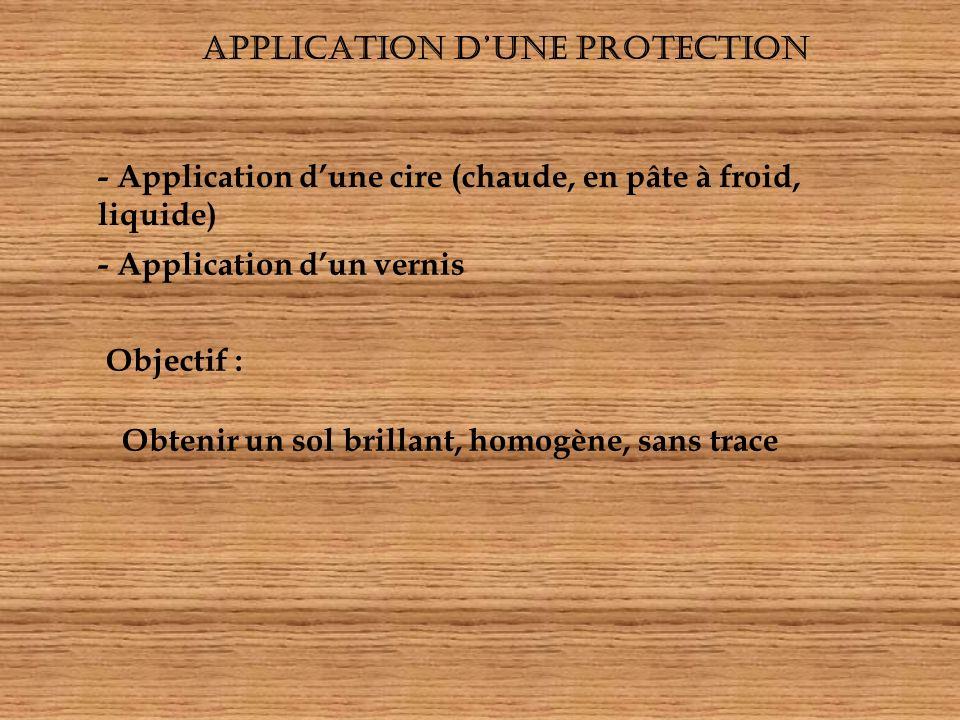 APPLICATION D'UNE PROTECTION