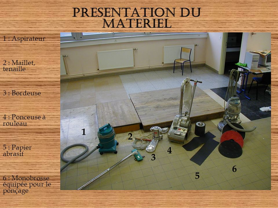 PRESENTATION DU MATERIEL
