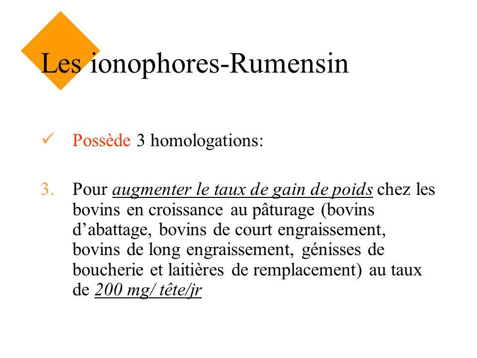 Les ionophores-Rumensin