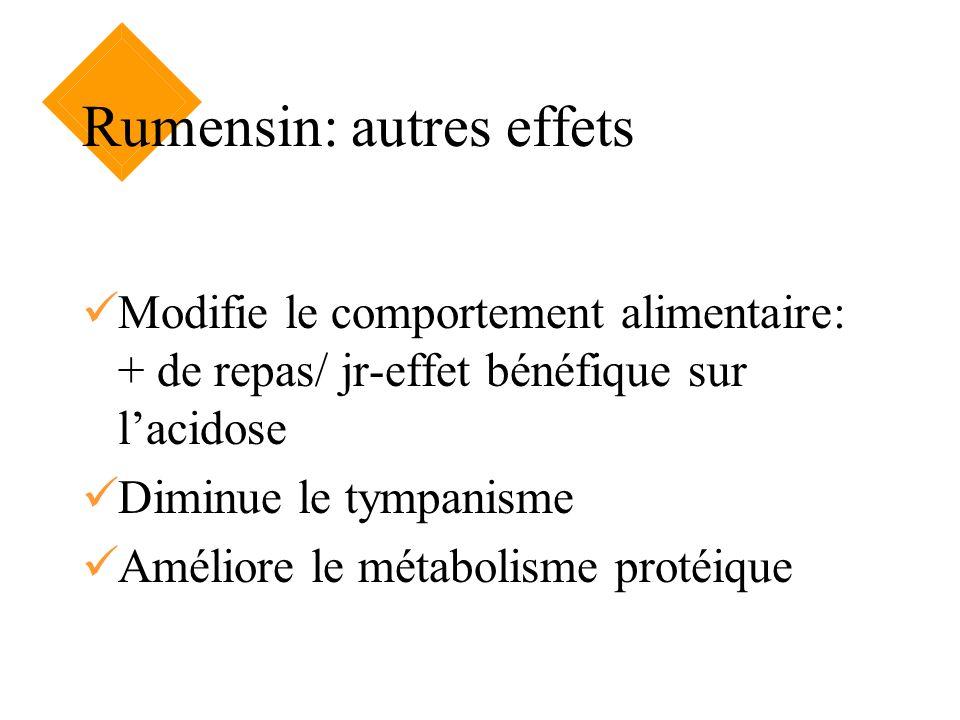 Rumensin: autres effets