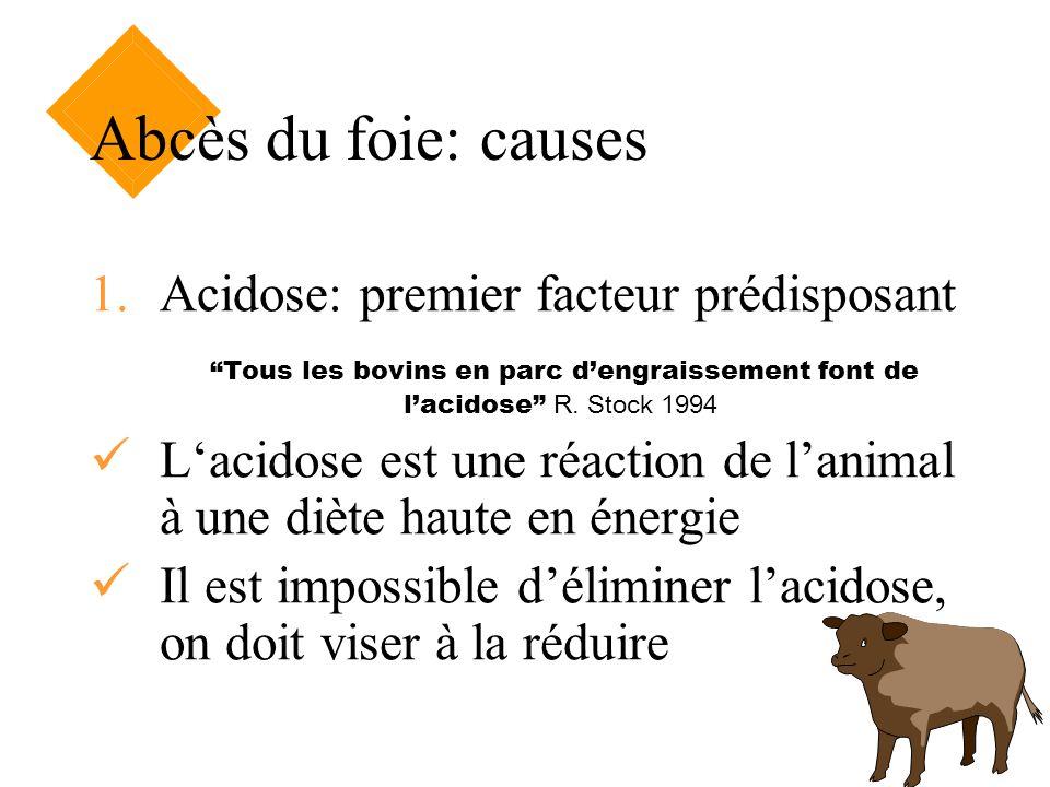 Abcès du foie: causes Acidose: premier facteur prédisposant