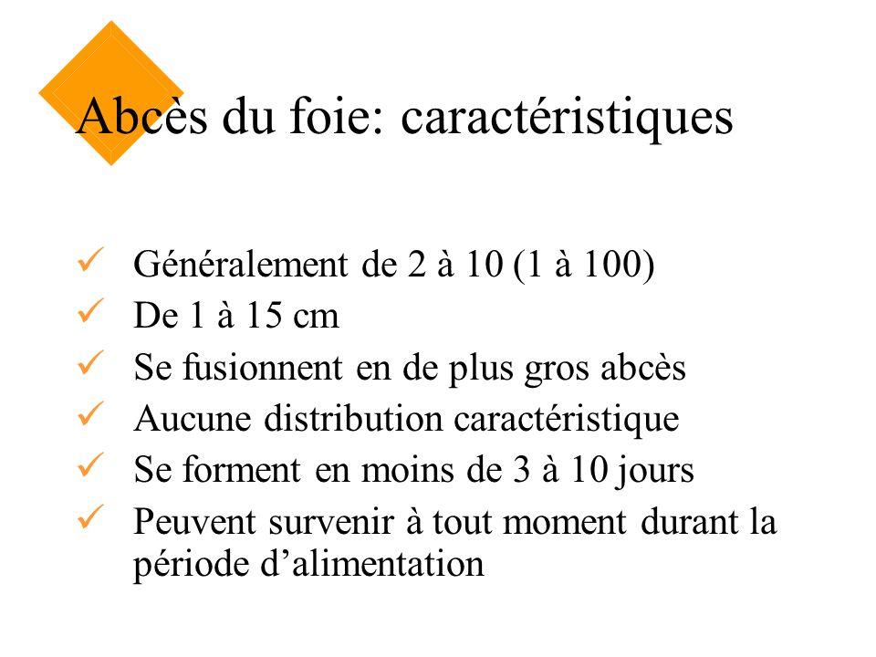 Abcès du foie: caractéristiques