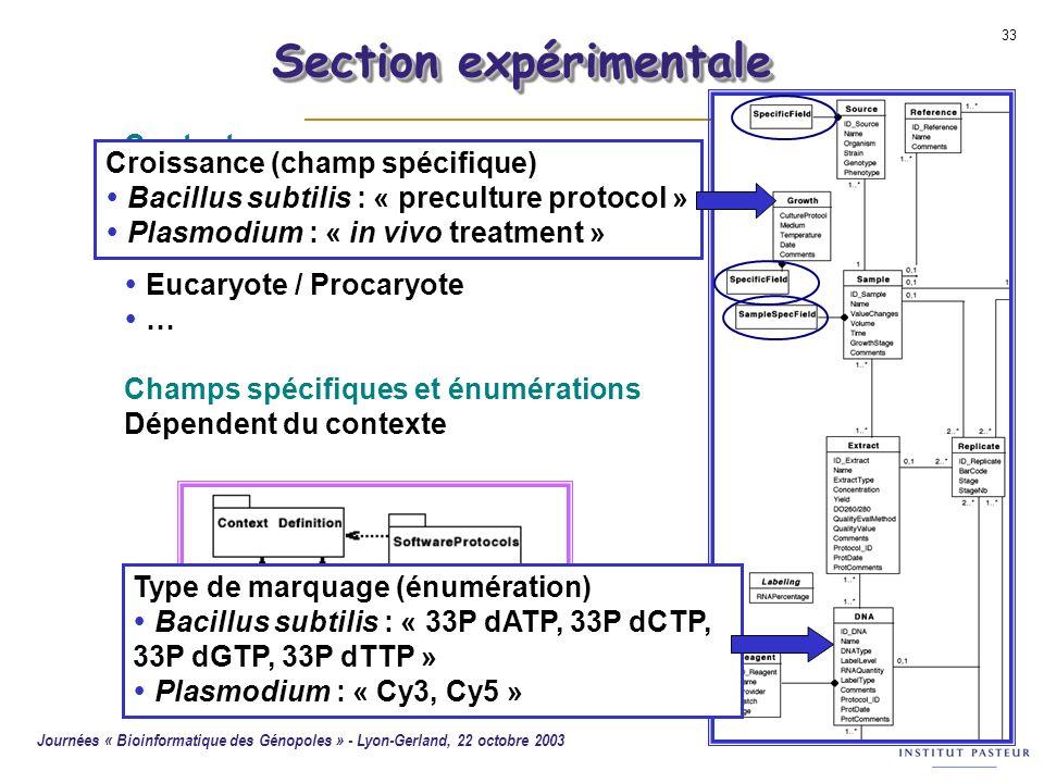 Section expérimentale