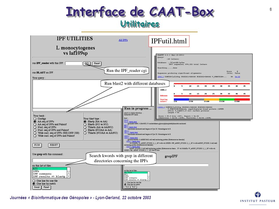 Interface de CAAT-Box Utilitaires