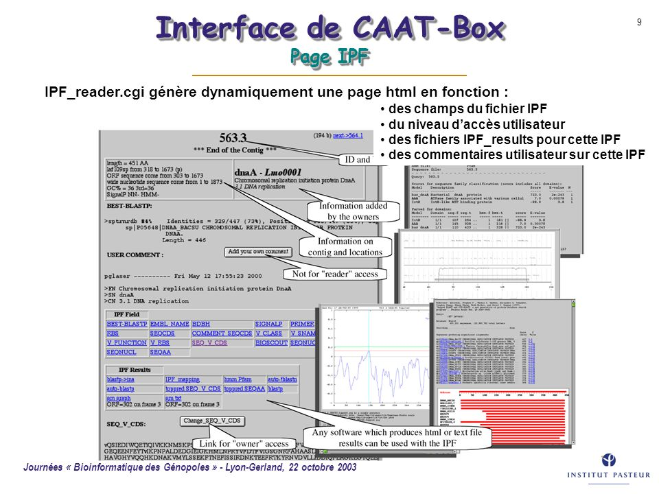 Interface de CAAT-Box Page IPF