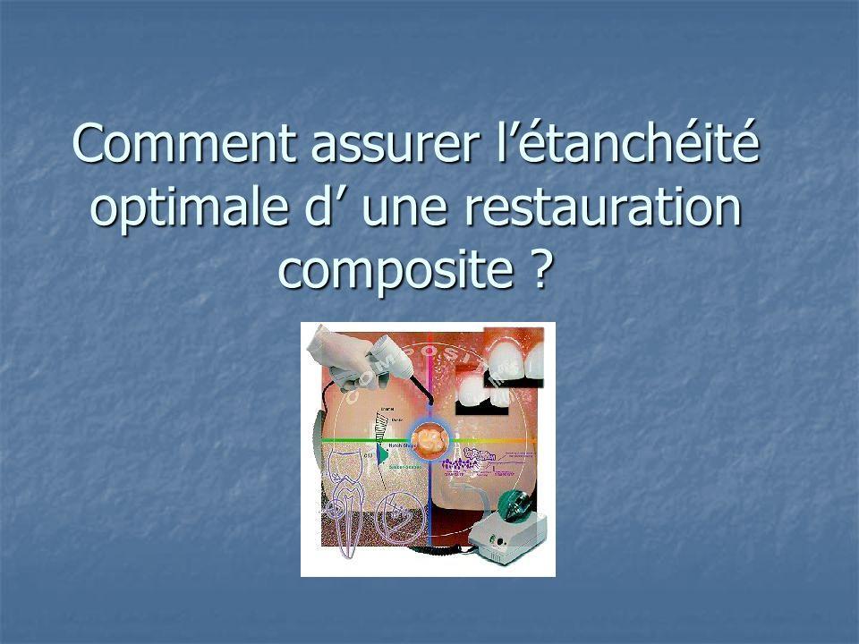Comment assurer l'étanchéité optimale d' une restauration composite
