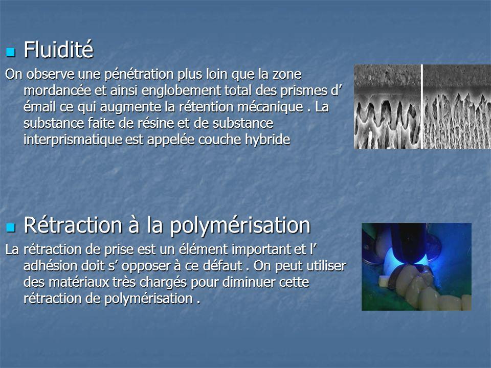 Rétraction à la polymérisation