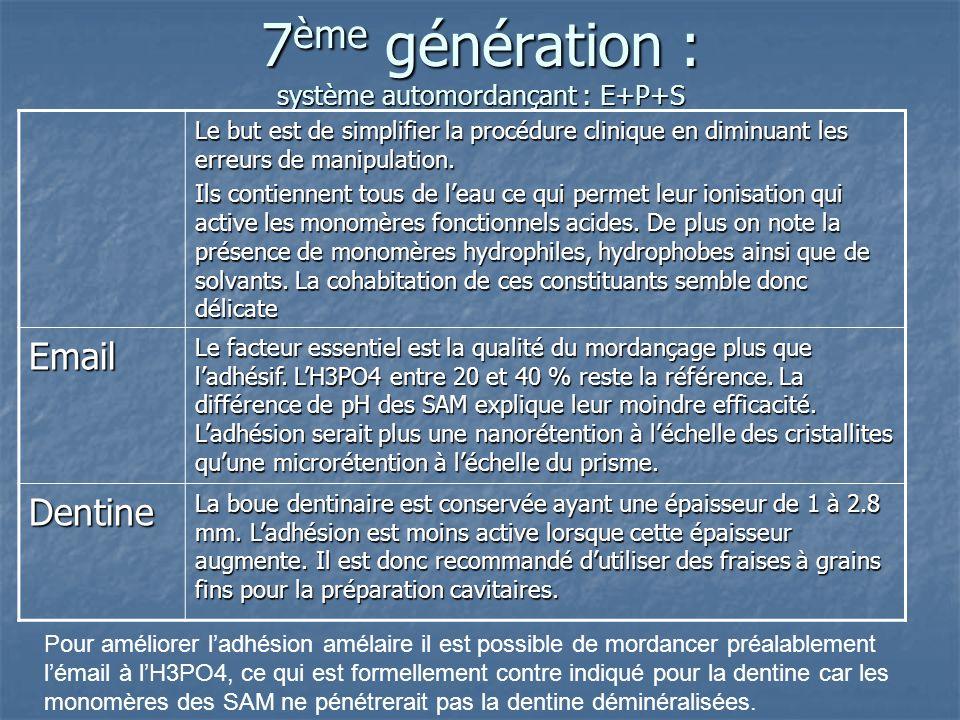 7ème génération : système automordançant : E+P+S