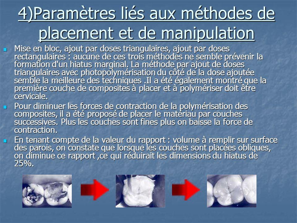 4)Paramètres liés aux méthodes de placement et de manipulation