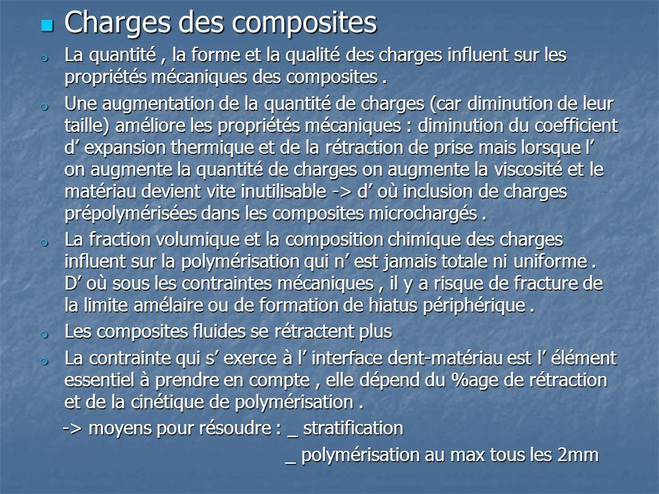 Charges des composites