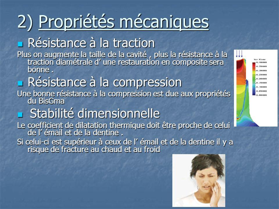 2) Propriétés mécaniques