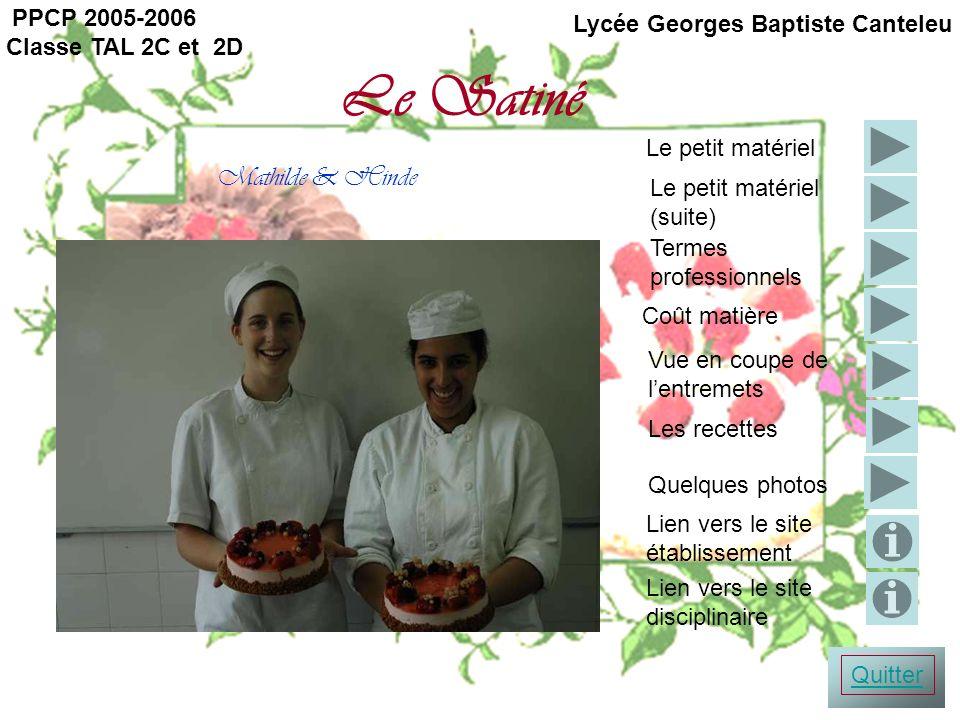 Le Satiné Mathilde & Hinde PPCP 2005-2006