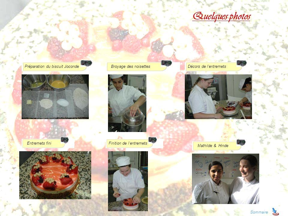 Quelques photos Préparation du biscuit Joconde Broyage des noisettes