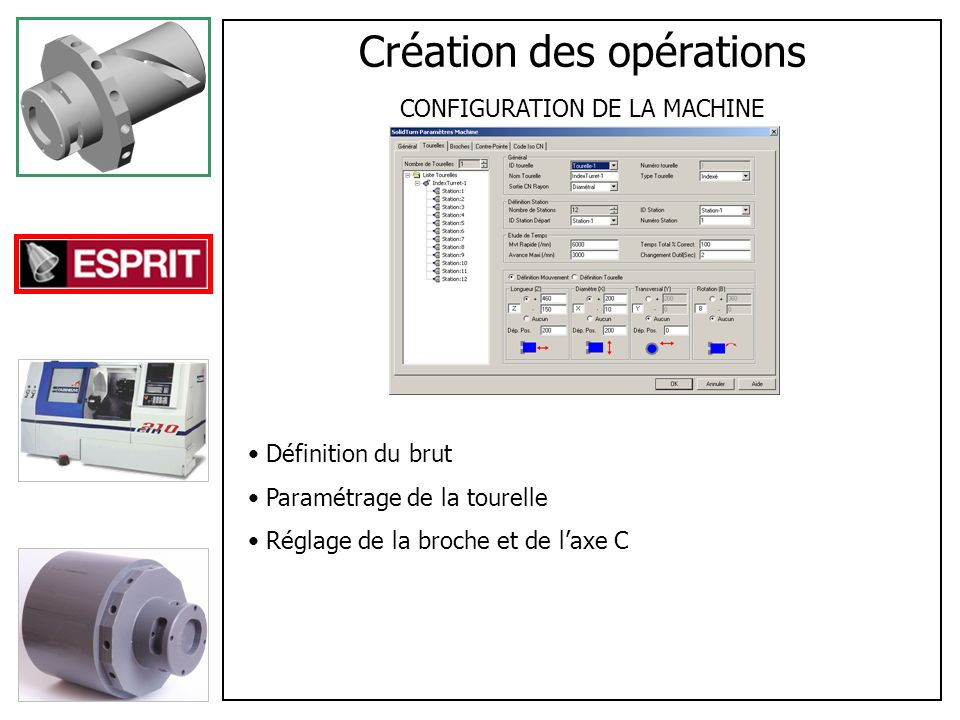 Création des opérations