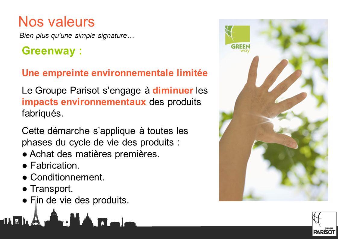 Nos valeurs Greenway : Une empreinte environnementale limitée