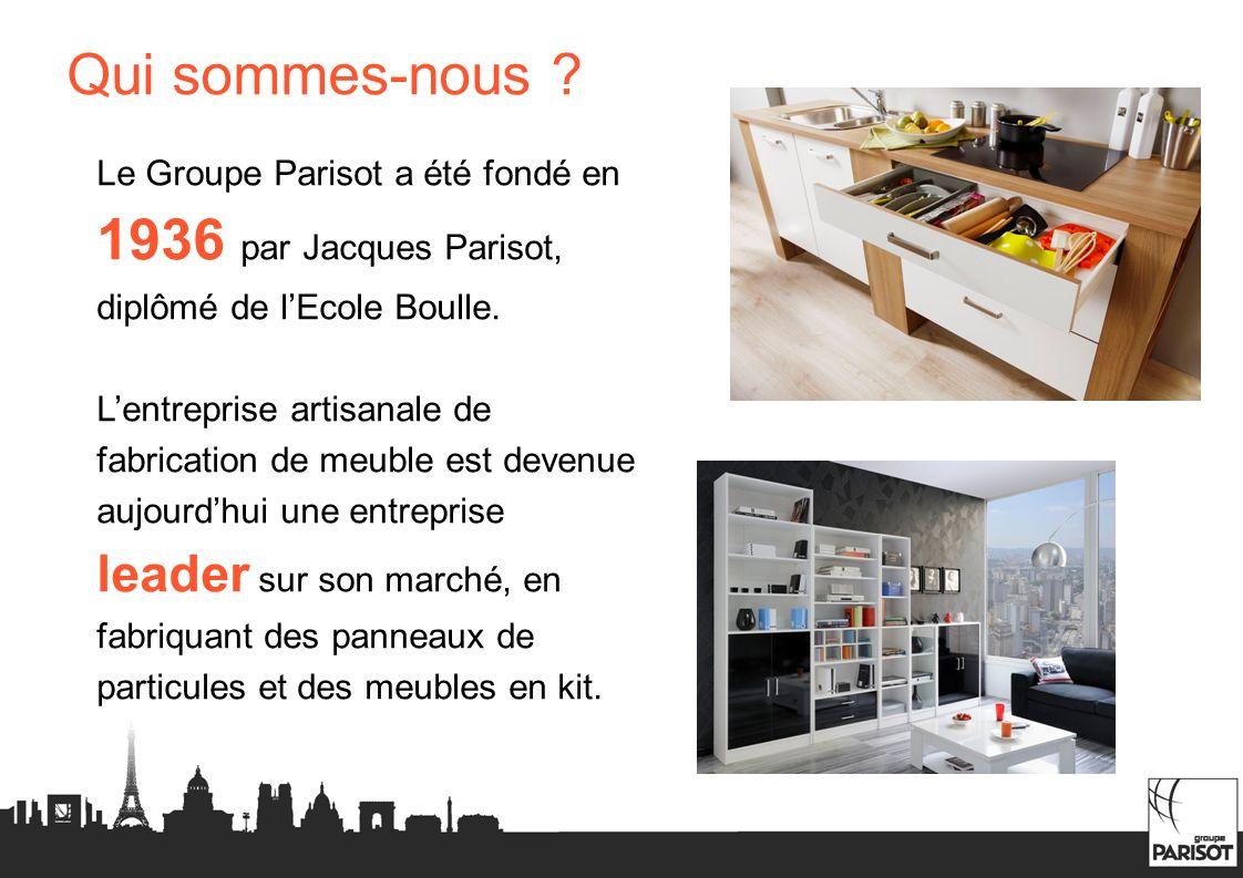 Qui sommes-nous Le Groupe Parisot a été fondé en 1936 par Jacques Parisot, diplômé de l'Ecole Boulle.