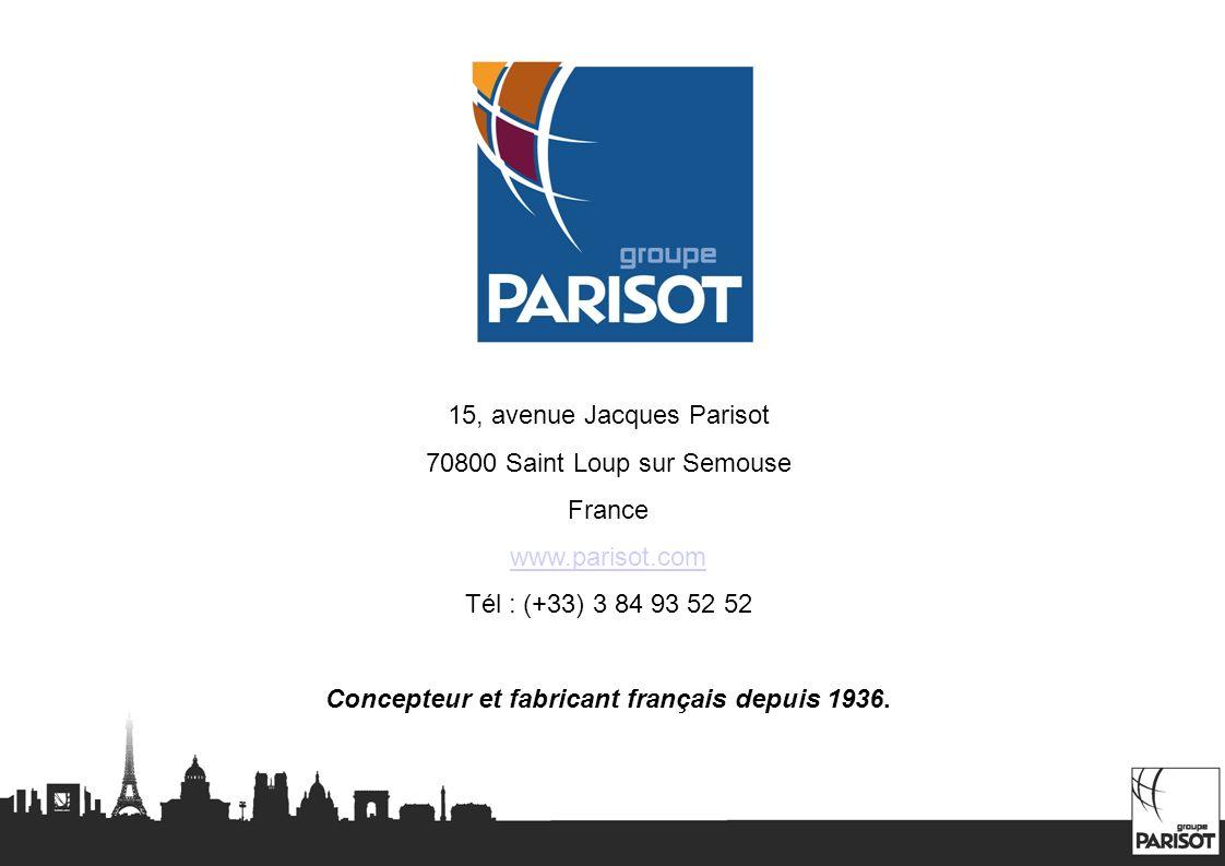 Concepteur et fabricant français depuis 1936.